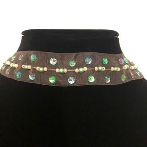 Jewelry - 2 for $8 CLOTH CHOKERS WITH SEQUINS